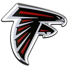 Show your team spirit proudly with this 12 inch die-cut vinyl magnet. The Atlanta Falcons car magnet is die-cut in the shape of the team logo. Made of heavy gauge magnetic vinyl, this magnet sticks to any metal surface. This die-cut vinyl magnet . Falcon Logo, Falcons Football, Falcons News, Football Jerseys, College Football, Football Helmets, Outdoor Logos, Nfl Logo, Team Logo