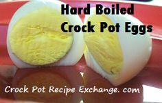 Crock Pot Hard Boiled Eggs (No Water).  Easter eggs just got easier to make.