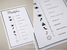 Amazing idea for the program of the wedding reception Wedding Programs, Wedding Reception, Our Wedding, Dream Wedding, Wedding Invitations, Wedding Stuff, Wedding Planning Timeline, Wedding Prints, Partying Hard