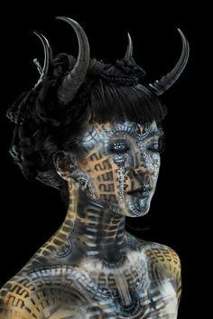 Futuristic body art... By Michael Rosner