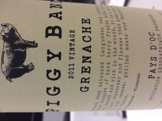 Piggybank Grenache. £7.99 from Waitrose. 50 pence from each bottle goes to a charity selected by customers.