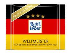 RITTER SPORT Fake Schokolade Weltmeister