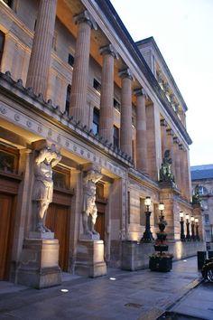 Aug. 2014 - flying into Glasgow, Scotland - library....