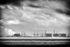 The other side - long distance view of the Isle of Grain from Chalkwell in Essex