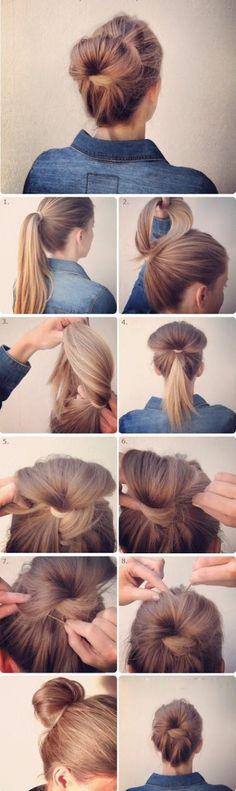 14 Penteados que você pode fazer em apenas 3 minutos - Coque alternativo
