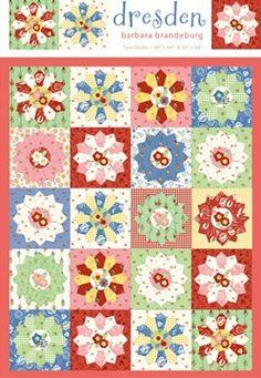 Dresden Quilt Pattern Cabbage Rose Quilts Barbara Brandeburg