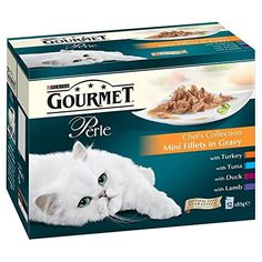Purina Gourmet Perle Chefs Collection Mini Fillets in Gravy  Pouch 12x85g >>> Click image to review more details.