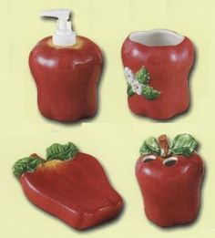 AWESOME APPLE SALT AND PEPPER SHAKERS | YARDSELLER | Pinterest | Pepper,  Apples And Salt Pepper Shakers