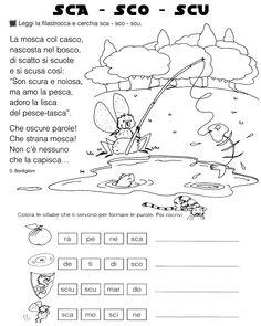 Sca Sco Scu Classe Prima Schede Didattiche Pinterest Italian