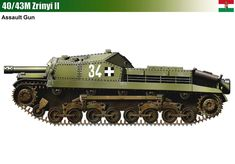 40/43M Zrinyi II War Thunder, Tank Destroyer, Austro Hungarian, Armored Fighting Vehicle, Engin, Ww2 Tanks, Tank Design, Military Equipment, Panzer