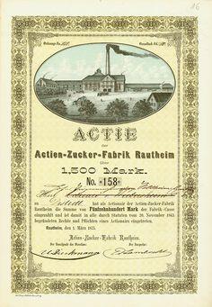 HWPH AG - Historische waardepapieren - Actien-Zucker-Fabrik Rautheim / Rautheim, 01.03.1875, Aktie über 1.500 Mark