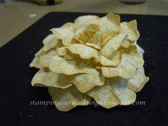 designed by Caroline Duncan: Stamped and Die Cut Rose Tutorial ~ stampingsandinklings.blogspot.com