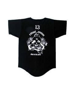 "Ritual Union — Black ""Skin in the Game"" Baseball Knit #streetwear #streetwearfashion #street #streetstyle #veryrare #menswear #supremenyc #pigalle #outfitoftheday #pyrex #pyrexvision #beentrill #givenchy #supreme #balmain #hba #hoodbyair #rhude #hypebeast #outfitgrid #ktz #kanyewest #yeezy #yeezus #asaprocky  #blackfashion #givenchy #mensfashion #highsnobiety"