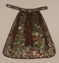 Embroidered apron  French, 1830–40  French