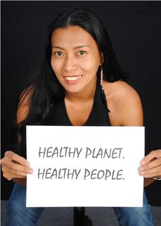 Sonia Astudillo of HCWH-Asia for a healthy planet and healthy people.  #Faceofclimate