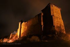 Khotyn fortress by YuriStorozhenko88  winter travel night europe tower old tourism architecture building history castle stone ancient fort