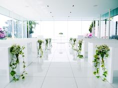 # Vress et Rose # Wedding # white # chapel # Flower # Bridal # ブレスエットロゼ #ウェディング # 白# チャペル #バージンロード# 花 # ブライダル#教会 Plants, Wedding Decorations, Plant, Planting, Planets, Wedding Jewelry