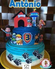 2nd Birthday Parties, 4th Birthday, Birthday Cake, Bday Cakes For Girls, Torta Paw Patrol, Cumple Paw Patrol, Disney Frozen Birthday, Drip Cakes, Buttercream Cake