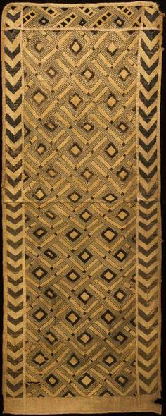 Kuba Woman's Overskirt  Shoowa People,DR Congo 19th century Raffia, Cut Pile and embroider