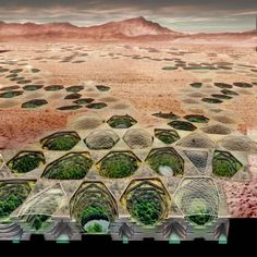 """""""Sietch Nevada"""" Designed by MATSYS // Sietch Nevada is a new urban prototype that reimagines the infrastructure of the American Southwest. An underground urban community, Sietch Nevada makes storage, use, and collection of water essential to the form and performance of urban life 