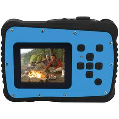 Blue Waterproof Digital Camera Kit Coleman 12.0 Megapixel Minixtreme Hd Video