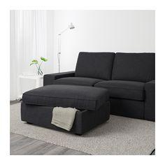 KIVIK Voetenbank met bergruimte - Hillared antraciet - IKEA 159 euro
