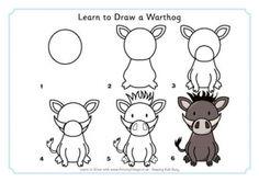 Learn to Draw a Warthog