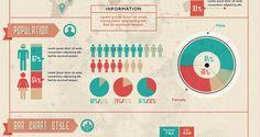 retro infographic vector elements PSD