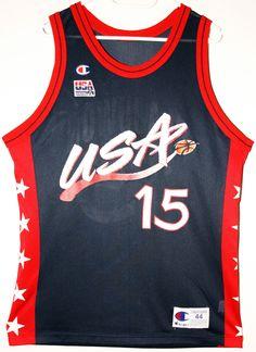 Champion USA Basketball Team #15 Hakeem Olajuwon Trikot/Jersey Size 44 - Größe L - 69,90€ #nba #basketball #trikot #jersey #ebay #sport #fitness #fanartikel #merchandise #usa #america #fashion #mode #collectable #memorabilia #allbigeverything