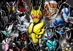 Kamen Rider Series, Clone Wars, Hero, Fan Art, Manga, Wallpaper, Drawing, Games, Watercolor Painting