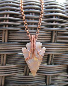 Arrowhead Necklace in Antique Copper