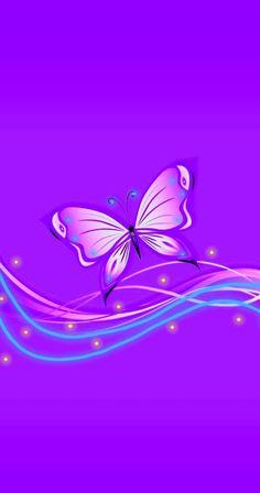 Purple Wallpaper Phone, Best Flower Wallpaper, Summer Wallpaper, Iphone Background Wallpaper, Butterfly Wallpaper, Cellphone Wallpaper, Background Pics, Purple Butterfly, Butterfly Art