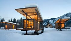 Rolling Huts | Methow Valley, WA | Six huts for glamping, and a more comfort-centric farmhouse that sleeps eight.