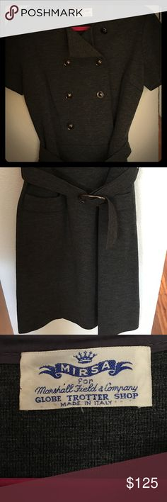Selling this Vintage Italian Wool Knee Length Belted Dress Med. on Poshmark! My username is: ilenealizah. #shopmycloset #poshmark #fashion #shopping #style #forsale #Marshall Field and Co. #Dresses & Skirts