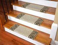 Image result for carpet tiles on wood stairs