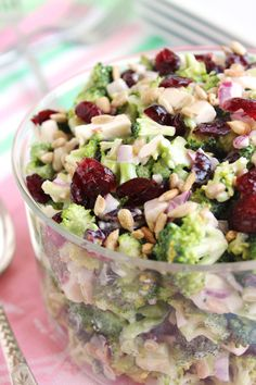 Chopped Broccoli Salad with Dried Cherries and Feta   The Suburban Soapbox