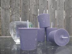 Purple Hyacinth scented soy votives purple vegan by CrochetByMel, $12.00 #purpleHyacinth #soycandles #votivecandle #floral #love #want #buyhandmade