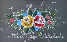 Olá pessoal!    Compartilho com vocês mais um trabalho feito nas técnicas Bauernmalerei e Arte Fiorentina (combinação que eu adoro!!). Como ...