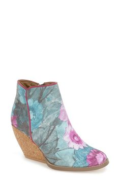 Very Volatile 'Tea Party' Floral Print Wedge Bootie (Women) available at #Nordstrom