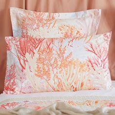 Bettwäsche mit digitalem Print einer bunten Koralle -    Zara Home Deutschland