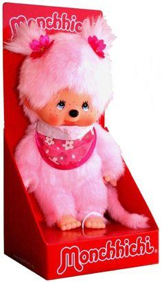 Monchhichi - Girl Sakura Pink 20 cm doll. Мончичи, кукла девочка Розовая Сакура