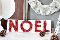 3D Noel Sign by Design, Dining + Diapers