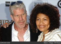 Ron Perlman and Opal Perlman Beautiful Love, Beautiful Couple, Cute Love, Famous Couples, Couples In Love, Happy Couples, Interracial Marriage, Interracial Couples, Celebrity Couples