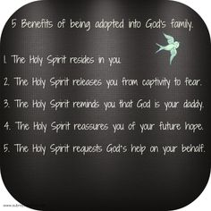 5 benefits of being adopted into God's family.
