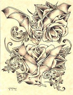 bat tattoo ideas | Will Koffman Tattoo: Hummingbirds, Sparrows and Bats Tattoo Design ...