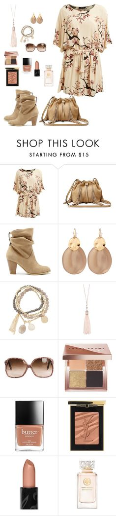 """""""chic fashion"""" by karen-powell ❤ liked on Polyvore featuring Lipsy, Diane Von Furstenberg, Sole Society, Alexis Bittar, DesignSix, Oasis, Bobbi Brown Cosmetics, Yves Saint Laurent and Tory Burch"""