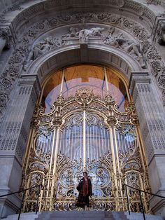 Gate/door at Le Petit Palais, Paris by pitsimeister, via Flickr