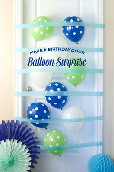 Easy to Make A Birthday Balloon Surprise - this would be so much fun to come home to.
