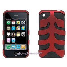 Etui silicone Jurassic iPhone 3G/S rouge sur http://www.etui-iphone.com/c/etui-iphone-3gs.awp
