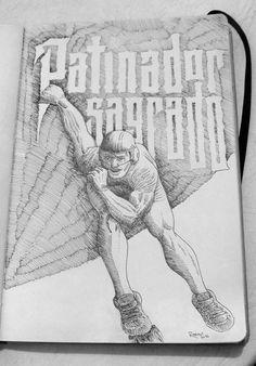 Babasonicos, Patinador Sagrado #inked #ink #art #design #artist #handmade #ink  #sketch #sketchaday #pencil  #illustration #graphicdesign #graphic #follow